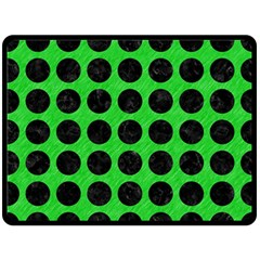 Circles1 Black Marble & Green Colored Pencil (r) Double Sided Fleece Blanket (large)