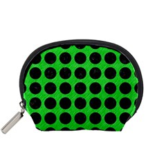 Circles1 Black Marble & Green Colored Pencil (r) Accessory Pouches (small)