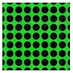 Circles1 Black Marble & Green Colored Pencil (r) Large Satin Scarf (square)