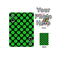 Circles2 Black Marble & Green Colored Pencil Playing Cards 54 (mini)