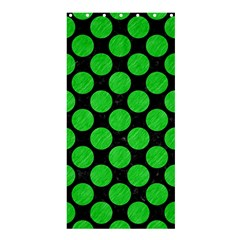 Circles2 Black Marble & Green Colored Pencil Shower Curtain 36  X 72  (stall)