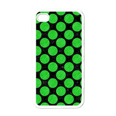 Circles2 Black Marble & Green Colored Pencil Apple Iphone 4 Case (white)