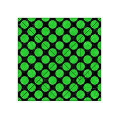 Circles2 Black Marble & Green Colored Pencil Acrylic Tangram Puzzle (4  X 4 )