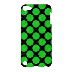 Circles2 Black Marble & Green Colored Pencil Apple Ipod Touch 5 Hardshell Case