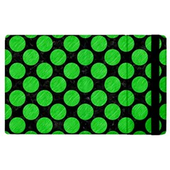Circles2 Black Marble & Green Colored Pencil Apple Ipad 2 Flip Case