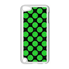 Circles2 Black Marble & Green Colored Pencil Apple Ipod Touch 5 Case (white)