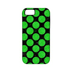 Circles2 Black Marble & Green Colored Pencil Apple Iphone 5 Classic Hardshell Case (pc+silicone)