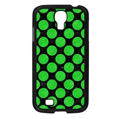 Circles2 Black Marble & Green Colored Pencil Samsung Galaxy S4 I9500/ I9505 Case (black)