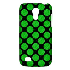 Circles2 Black Marble & Green Colored Pencil Galaxy S4 Mini