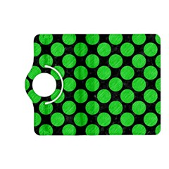 Circles2 Black Marble & Green Colored Pencil Kindle Fire Hd (2013) Flip 360 Case