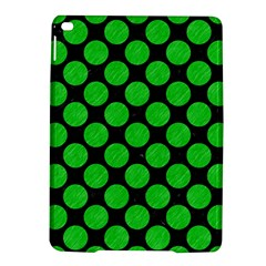 Circles2 Black Marble & Green Colored Pencil Ipad Air 2 Hardshell Cases