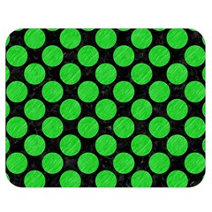 Circles2 Black Marble & Green Colored Pencil Double Sided Flano Blanket (medium)