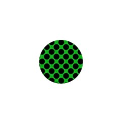 Circles2 Black Marble & Green Colored Pencil (r) 1  Mini Buttons