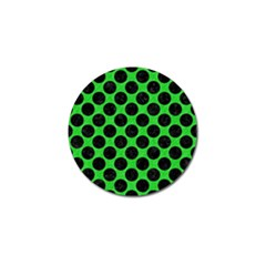 Circles2 Black Marble & Green Colored Pencil (r) Golf Ball Marker (10 Pack)