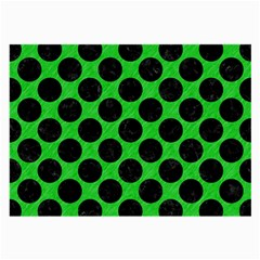 Circles2 Black Marble & Green Colored Pencil (r) Large Glasses Cloth (2 Side)