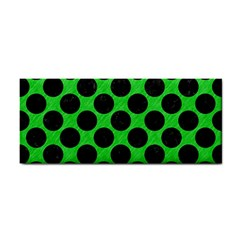 Circles2 Black Marble & Green Colored Pencil (r) Cosmetic Storage Cases
