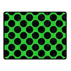 Circles2 Black Marble & Green Colored Pencil (r) Fleece Blanket (small)