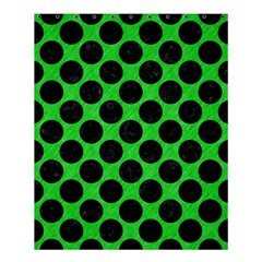 Circles2 Black Marble & Green Colored Pencil (r) Shower Curtain 60  X 72  (medium)