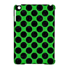 Circles2 Black Marble & Green Colored Pencil (r) Apple Ipad Mini Hardshell Case (compatible With Smart Cover)