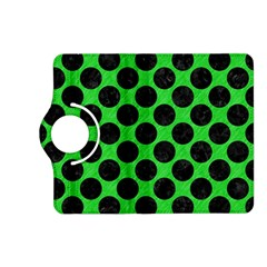 Circles2 Black Marble & Green Colored Pencil (r) Kindle Fire Hd (2013) Flip 360 Case