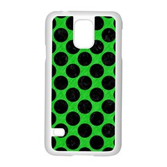 Circles2 Black Marble & Green Colored Pencil (r) Samsung Galaxy S5 Case (white)