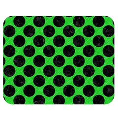 Circles2 Black Marble & Green Colored Pencil (r) Double Sided Flano Blanket (medium)
