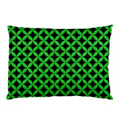 Circles3 Black Marble & Green Colored Pencil Pillow Case