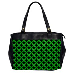Circles3 Black Marble & Green Colored Pencil Office Handbags
