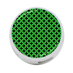 Circles3 Black Marble & Green Colored Pencil 4 Port Usb Hub (one Side)