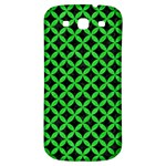 CIRCLES3 BLACK MARBLE & GREEN COLORED PENCIL Samsung Galaxy S3 S III Classic Hardshell Back Case Front