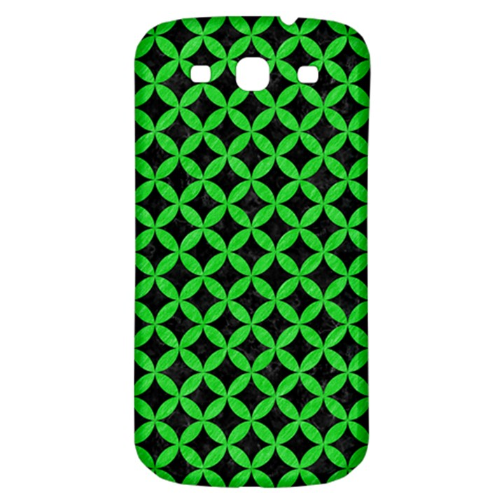 CIRCLES3 BLACK MARBLE & GREEN COLORED PENCIL Samsung Galaxy S3 S III Classic Hardshell Back Case