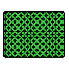 Circles3 Black Marble & Green Colored Pencil Double Sided Fleece Blanket (small)