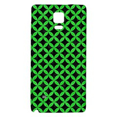 Circles3 Black Marble & Green Colored Pencil Galaxy Note 4 Back Case