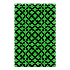 Circles3 Black Marble & Green Colored Pencil (r) Shower Curtain 48  X 72  (small)