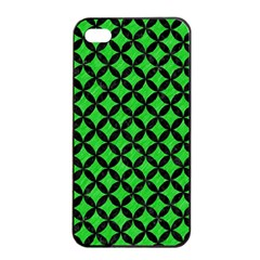 Circles3 Black Marble & Green Colored Pencil (r) Apple Iphone 4/4s Seamless Case (black)