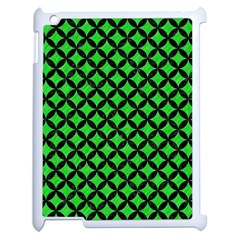 Circles3 Black Marble & Green Colored Pencil (r) Apple Ipad 2 Case (white)