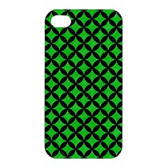 Circles3 Black Marble & Green Colored Pencil (r) Apple Iphone 4/4s Hardshell Case