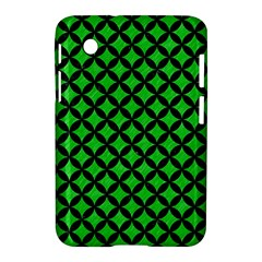 Circles3 Black Marble & Green Colored Pencil (r) Samsung Galaxy Tab 2 (7 ) P3100 Hardshell Case