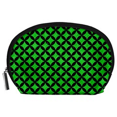 Circles3 Black Marble & Green Colored Pencil (r) Accessory Pouches (large)