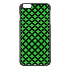 Circles3 Black Marble & Green Colored Pencil (r) Apple Iphone 6 Plus/6s Plus Black Enamel Case