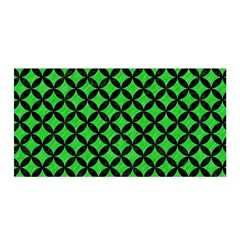Circles3 Black Marble & Green Colored Pencil (r) Satin Wrap