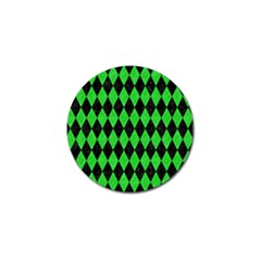 Diamond1 Black Marble & Green Colored Pencil Golf Ball Marker