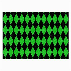 Diamond1 Black Marble & Green Colored Pencil Large Glasses Cloth (2 Side)