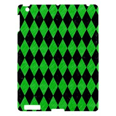 Diamond1 Black Marble & Green Colored Pencil Apple Ipad 3/4 Hardshell Case
