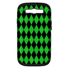 Diamond1 Black Marble & Green Colored Pencil Samsung Galaxy S Iii Hardshell Case (pc+silicone)