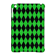 Diamond1 Black Marble & Green Colored Pencil Apple Ipad Mini Hardshell Case (compatible With Smart Cover)