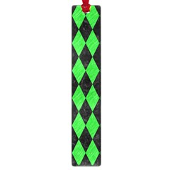 Diamond1 Black Marble & Green Colored Pencil Large Book Marks