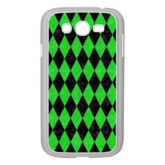 Diamond1 Black Marble & Green Colored Pencil Samsung Galaxy Grand Duos I9082 Case (white)