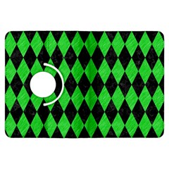 Diamond1 Black Marble & Green Colored Pencil Kindle Fire Hdx Flip 360 Case