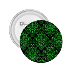 Damask1 Black Marble & Green Colored Pencil 2 25  Buttons